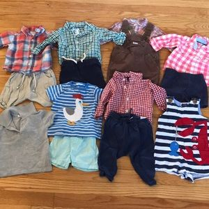 6-12 M Lot of 14 Pieces: GAP, Old Navy, Boden, Etc